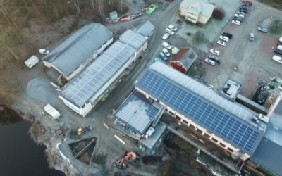 Största solcellsanläggningen i Lerums Kommun finns nu på Garveriet