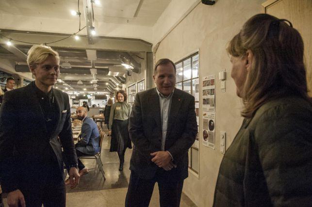 Statsminister Stefan Löfven besökte Garveriet och blev imponerad
