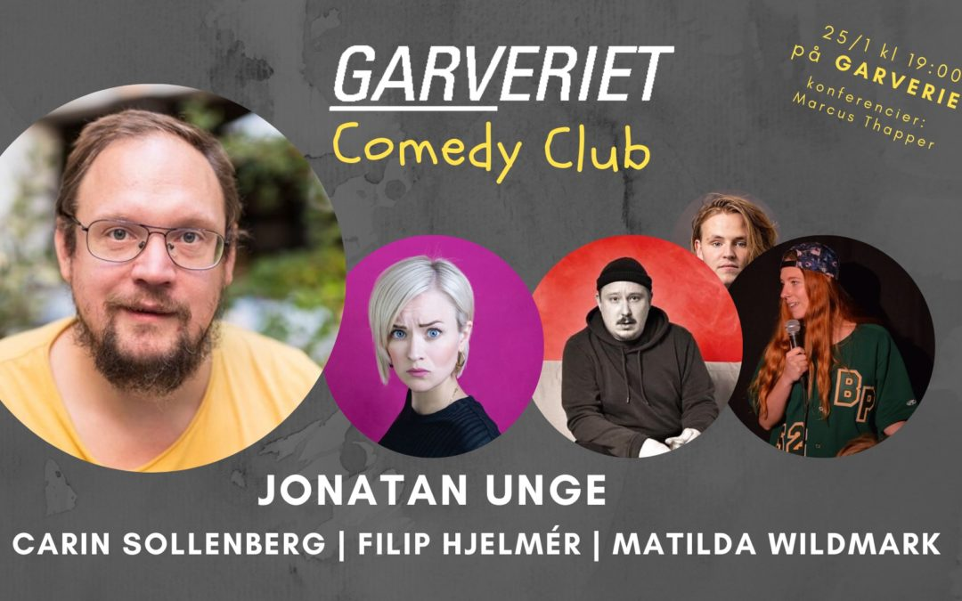 Inled året med Stand-up – GARVeriet COMEDY lördag 25/1