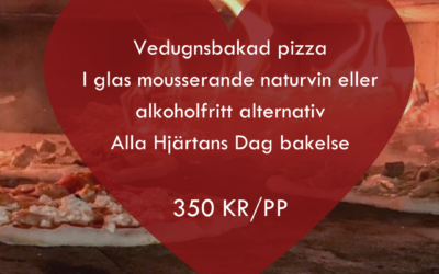 Pizzaspecial på Alla Hjärtans Dag 14/2