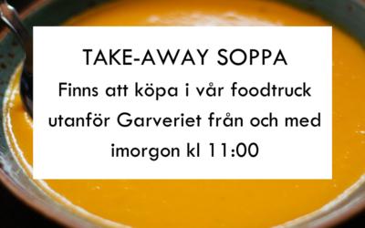 TAKE-AWAY Soppa + Bröd 80KR.